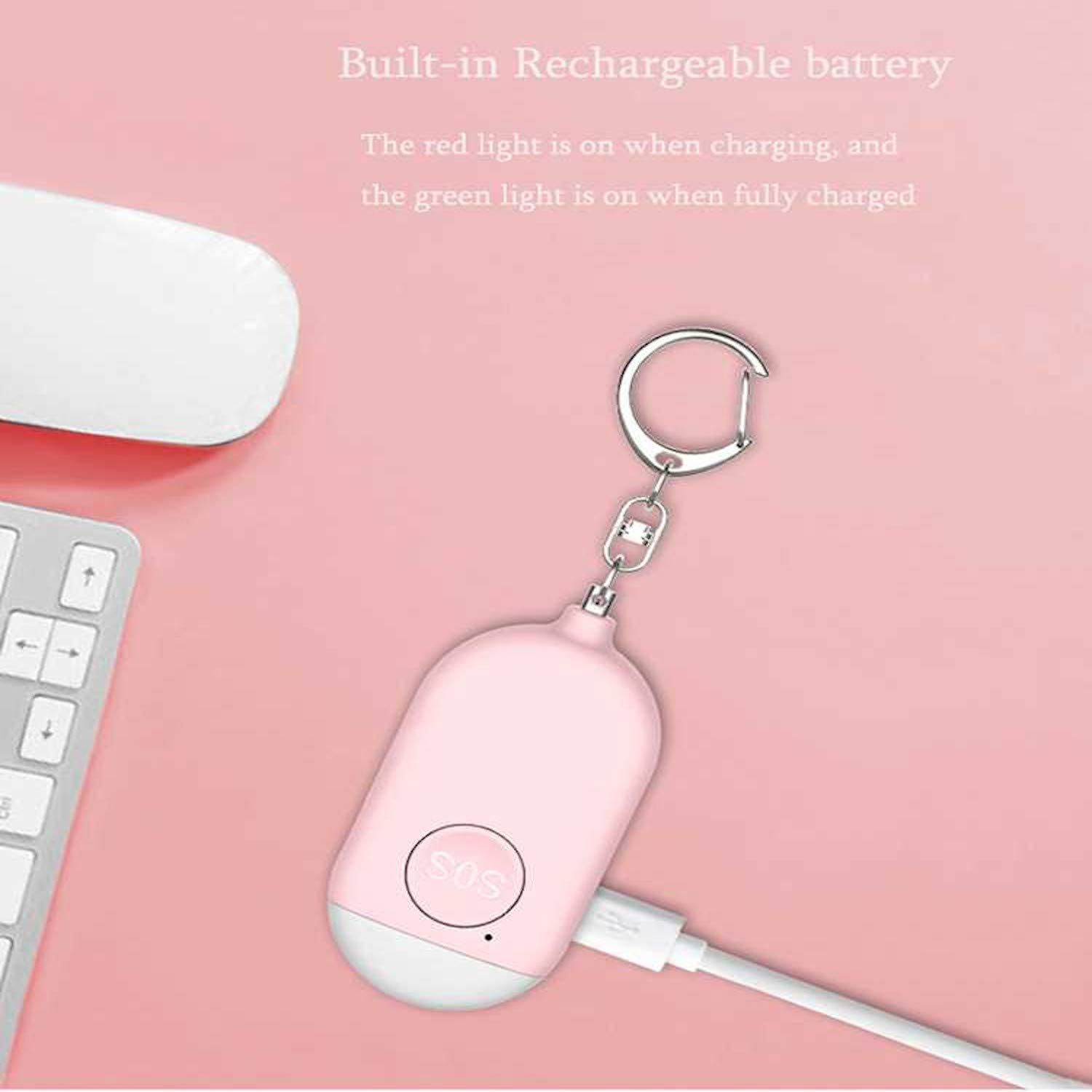 Safe Sound Personal Alarm,Personal Alarm for Women self Defense Alarm 130db USB Rechargeable Key Chain Alarm with LED Light Emergency Safety Personal Alarms for Women,Kids,Men,Seniors