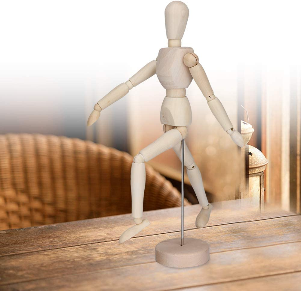 Perfect for Home Decoration//Drawing The Human Figure Wood Artist Manikin Jointed Mannequin with Base and Flexible Body