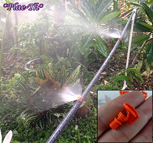Sprinkler Head 180° Nozzle Sprayer Orange Set of 100 Misting Irrigation System Cooling Outdoor Garden Review