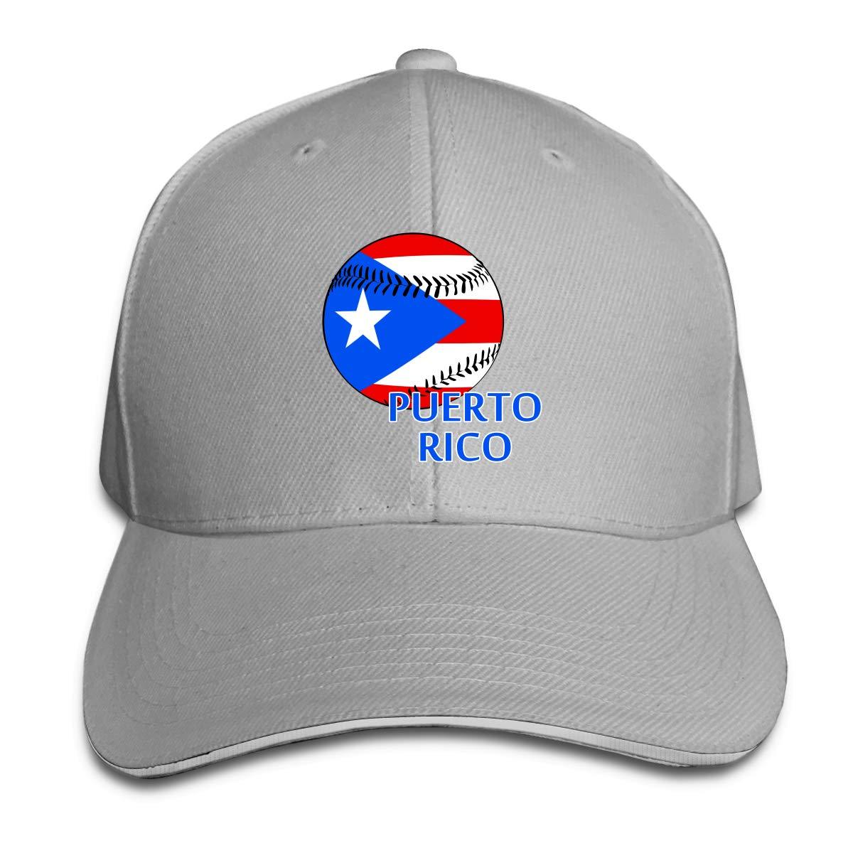 WFIRE Adult Baseball Caps Puerto Rico Baseball Custom Adjustable Sandwich Cap Casquette Hats