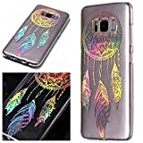 For Samsung Galaxy S8 Plus Case Clear Silicone Phone Cover and Screen Protector, OYIME Creative Plating Design with Bright Pattern Skin Ultra Thin Slim Soft Silicone Rubber Glitter Brilliant Transparent Protective Back Cover Anti-Scratch Drop Protection Shockproof Bumper Cases - Dream Catcher