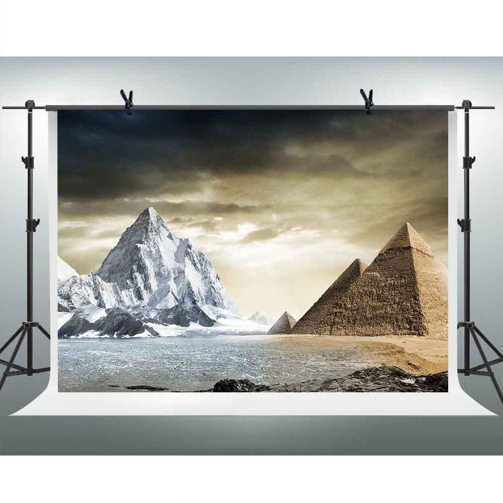 FHzON 10 x 7ft Places関心のエジプトピラミッドBackdrops for Photography雪山背景テーマパーティーYoutube背景写真ブース小道具Studio pfh402   B07F5HBWC7