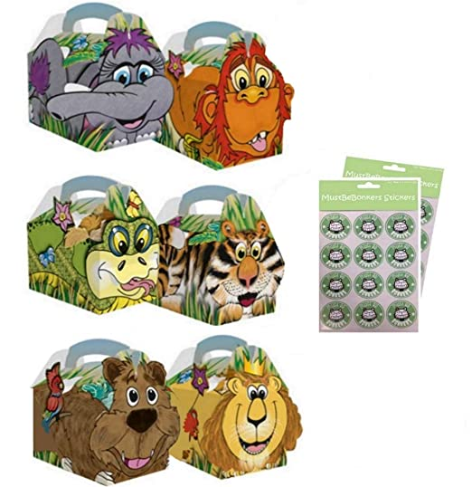 20 cajas para fiesta de cumpleaños, diseño de animales de la ...