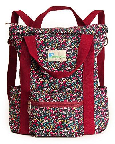 School College Floral Waterproof Laptop Backpack for Women &
