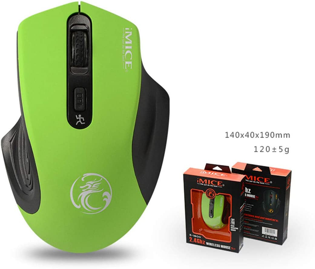 Color : Elegant Black+Exclusive Color Box Saalising 2.4G Slim Wireless Mouse with Nano Receiver Noiseless and Silent Click with 1600 DPI for PC Laptop Tablet Computer and Mac