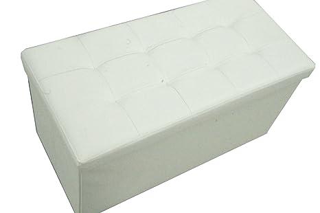 Panca Contenitore Ecopelle : Russo tessuti pouf puff panca contenitore sgabello scatola