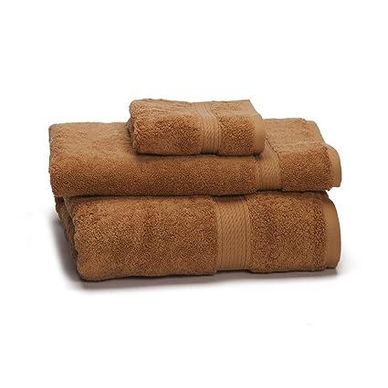 900 gsm 3 piezas Juego de toallas – 100% algodón de fibras largas de lujo