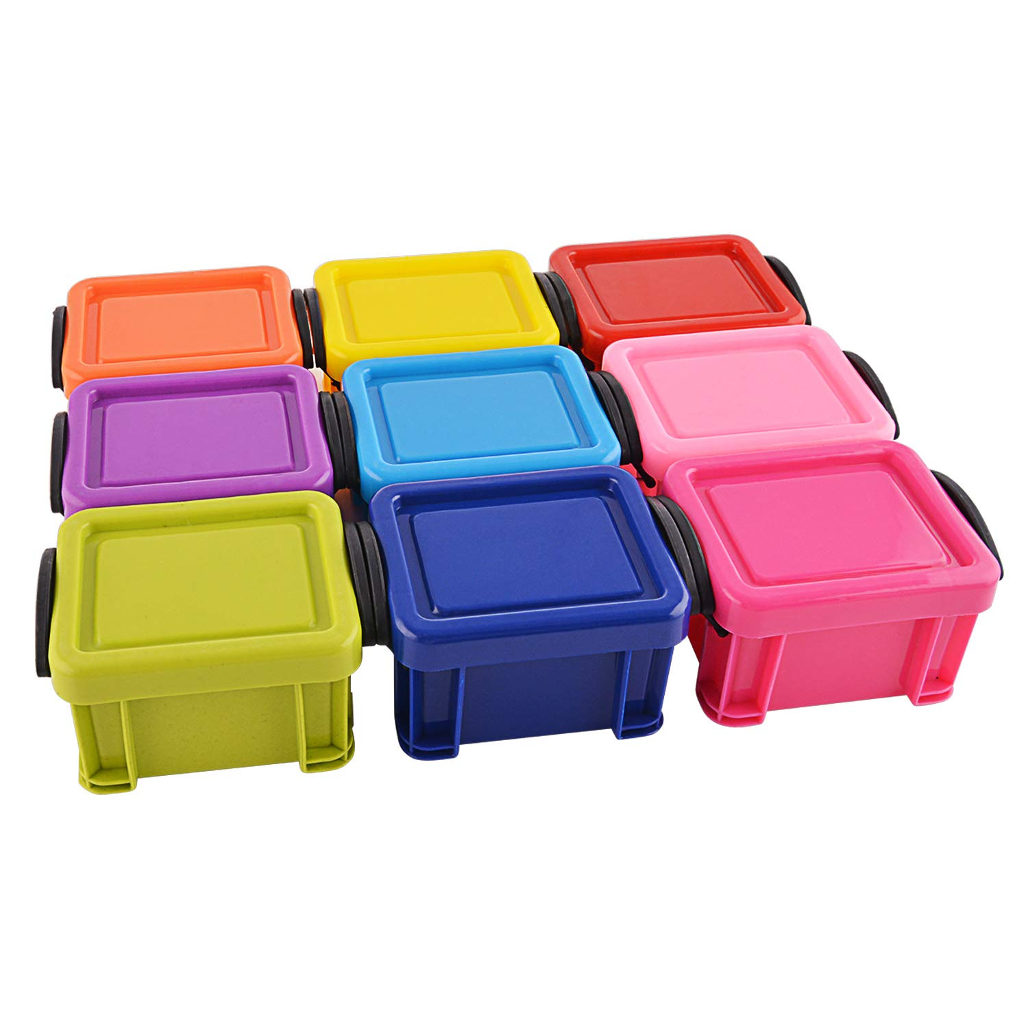 Storage Bins /Boxes Organizer- 6pc, Candy-colored smiley Storage Box jewelry accessories plastic debris sorting box packaging TYHY AX-AY-ABHI-119060
