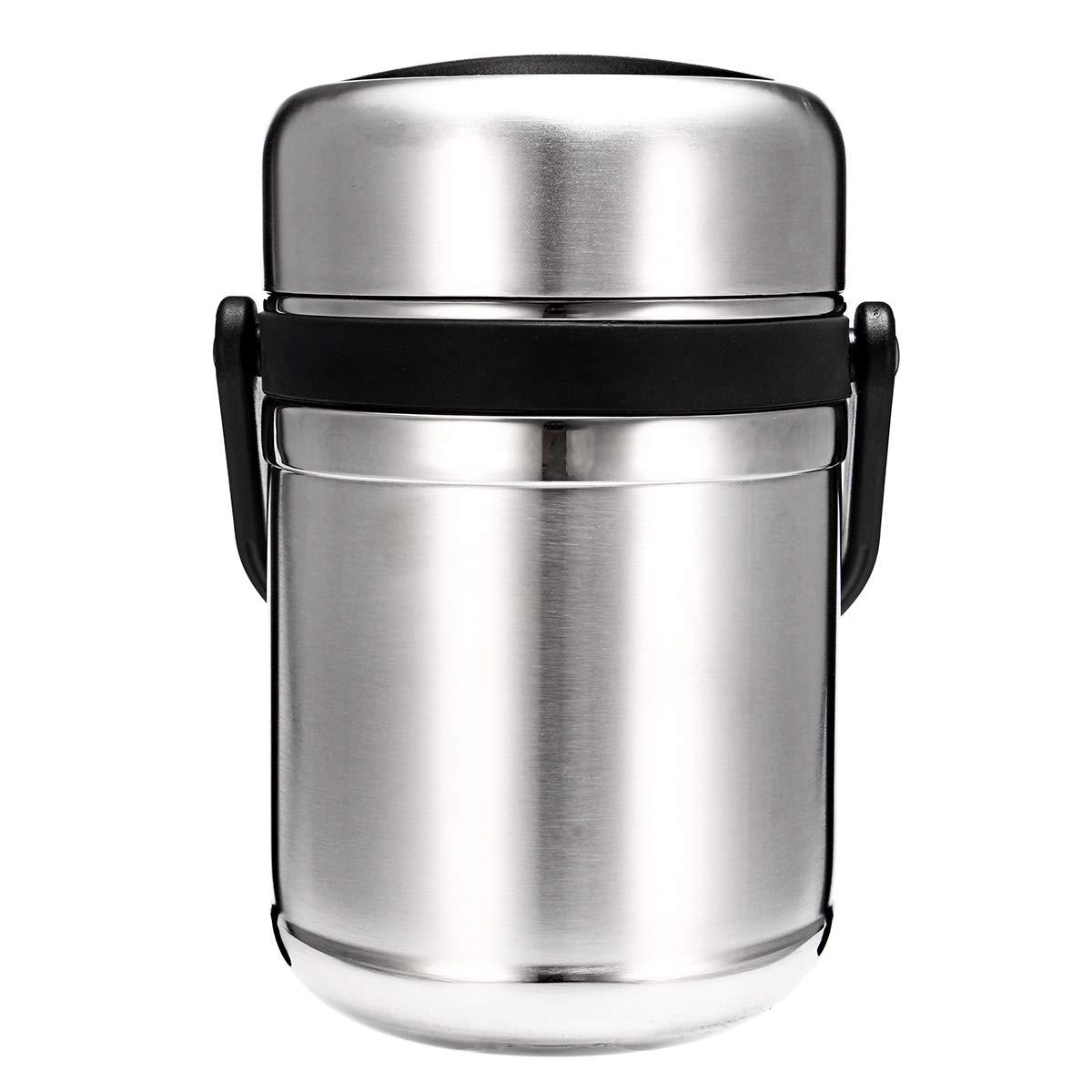 Rosafishs Outdoor Edelstahl-Wanderung Vakuum Lunch Box Edelstahl Hot Food Container Container Food Warmespeichung mit Licht - 0db9d0