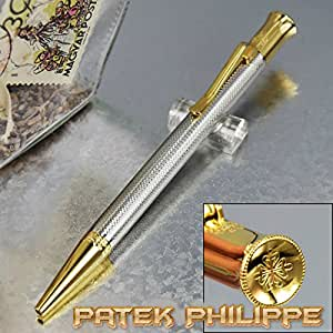 PateK Philippe Luxury Special Business Ballpoint Pen, Silver Gold 2