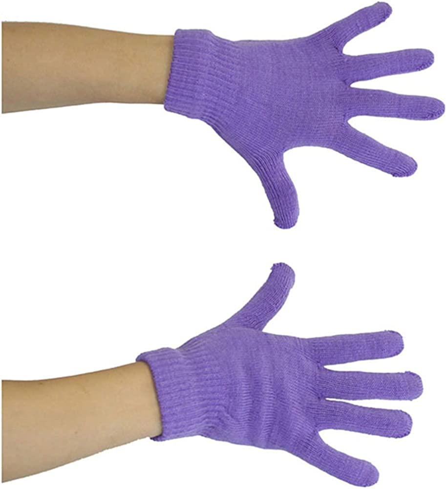 ToBeInStyle Womens 6 Pairs of Acrylic Stretchy Fuzzy Everyday Winter Gloves