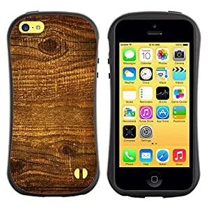 "Apple iPhone 5C , Radio-Star - Slim Fit Dual Barniz Protector Caso Case Funda ("" Wood Nature Pattern Texture Brown Wall"")"