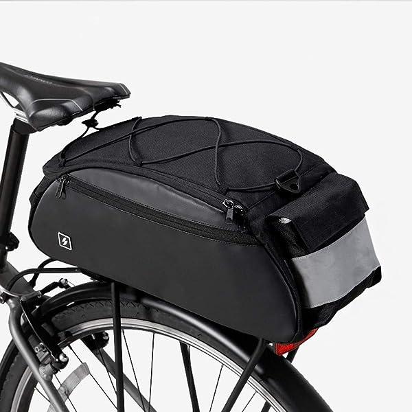 Cycling Bicycle Bike Shoulder Handbag Pannier Rear Seat Bag Rack Trunk Black