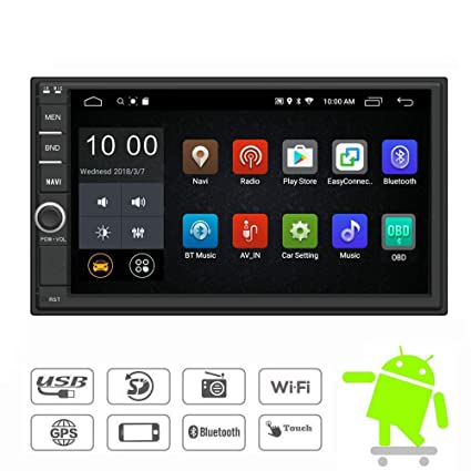 YODY Android 9.0 Double Din Car Stereo Radio 7 Inch Touch Screen in Dash GPS Navigation Support WiFi Bluetooth Mirror Link SWC OBD with Backup Camera ...