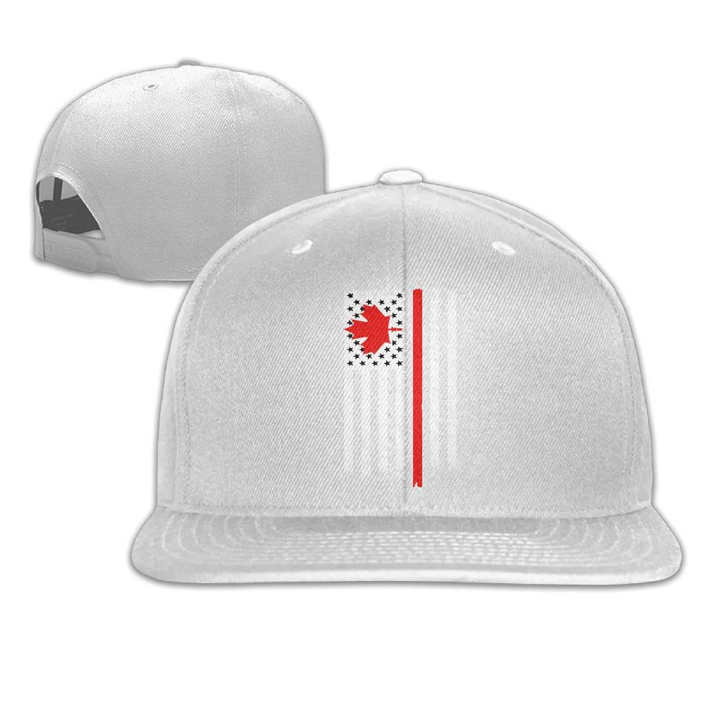 Madoling Canadian American Flag Adjustable Washed Cap Baseball Hat