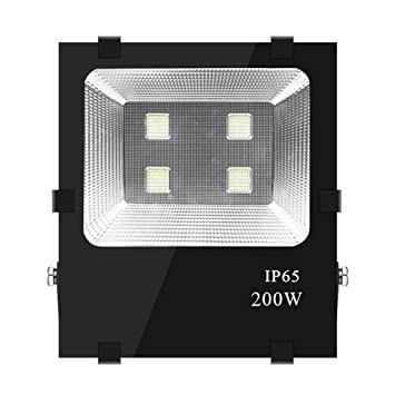 Proyector LED Exterior IP65 Impermeable Luz De Seguridad, Aluminio ...