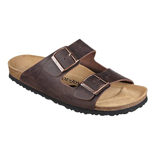 London Natural Leather Soft-Footbed sandals narrow