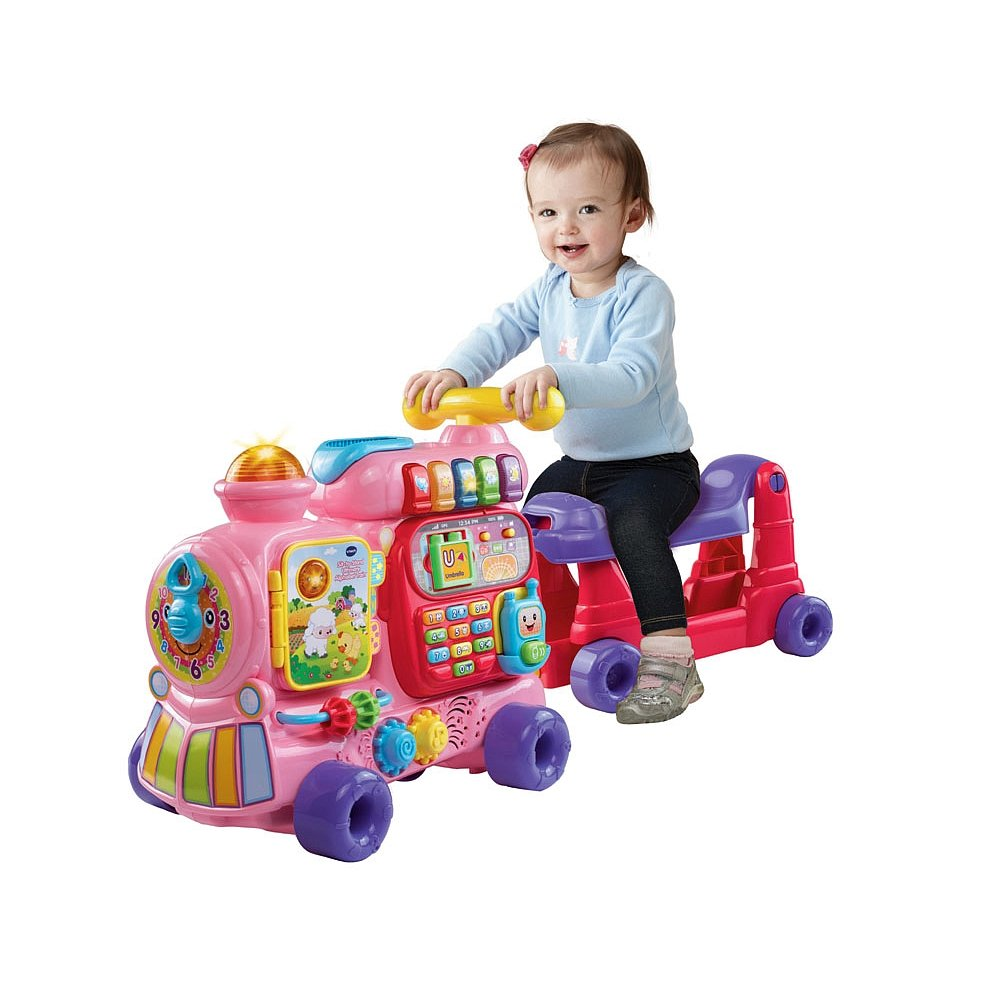 VTech Sit-to-Stand Ultimate Alphabet Train, Pink by VTech (Image #2)