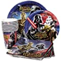 Star Wars Birthday Party Supplies Pack - Star Wars Lunch Plates, Star Wars Dessert Plates, Star Wars Napkins, Star Wars Cups