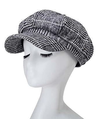 Roffatide Unisexo Gorras Gatsby Boinas de 8 Piezas Casquillo Plano Herringbone Hat Gris Oscuro: Amazon.es: Ropa y accesorios