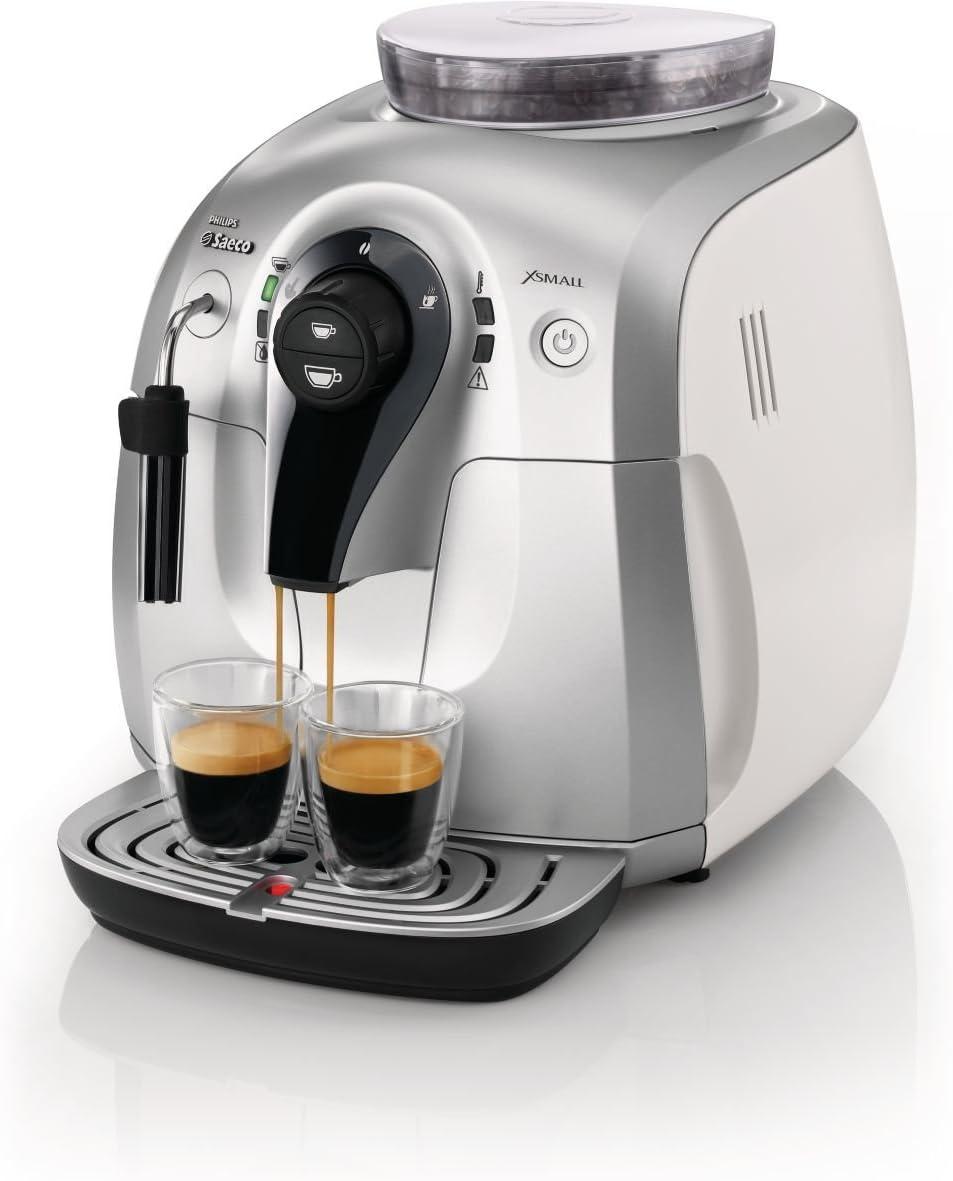 Saeco HD8745/23 - Cafetera Saeco Xsmall espresso automática 1400W con espumador de leche clásico, molinillos 100% cerámicos, limpieza del circuito de café automática: Amazon.es: Hogar