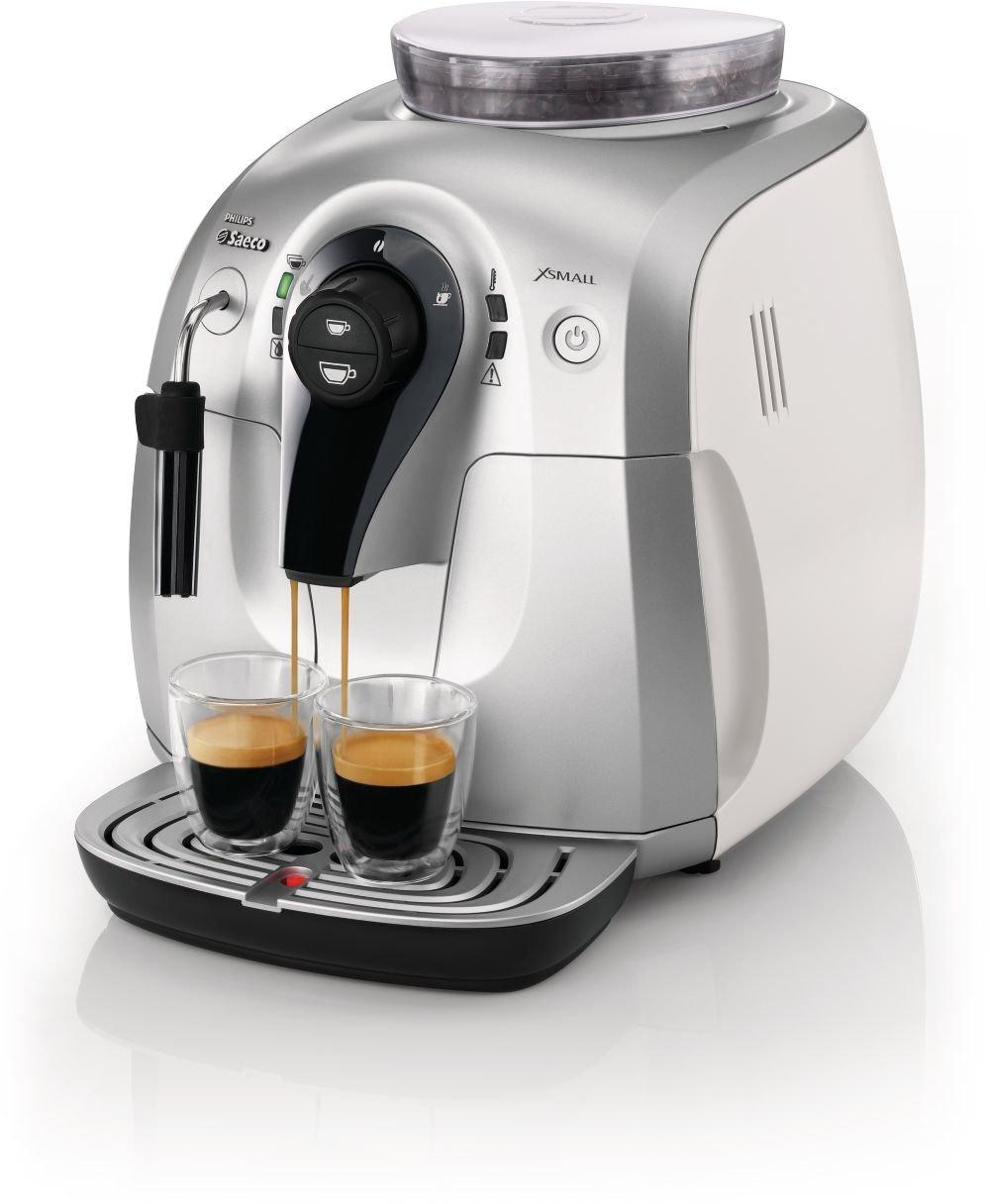 Saeco Xsmall HD8745/09 - Cafetera (Máquina espresso, 1 L, Granos de café, De café molido, Molinillo integrado, 1400 W, Acero inoxidable): Amazon.es: Hogar
