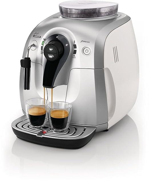 Saeco HD8745/23 - Cafetera Saeco Xsmall espresso automática 1400W con espumador de leche clásico, molinillos 100% cerámicos, limpieza del circuito de ...