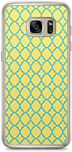 Samsung Galaxy S7 Transparent Edge Phone Case Geometry Architectural Phone Case Green And Yellow
