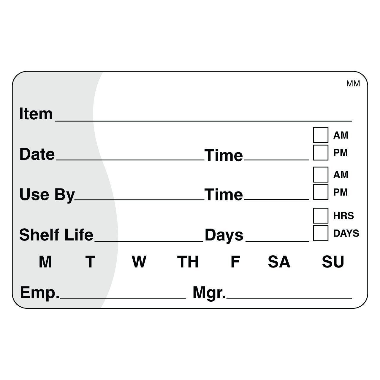 "DayMark Shelf Life/Use By Removable Label, 2"" x 3"" (Roll of 500)"