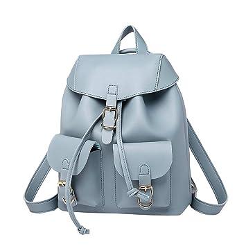 0ba744b20e571 Krstay PU Leder Daypacks Mädchen Schule Klein Schultertasche Mode Rucksack  Damen Kawaii Lässig Handtaschen Elegant Umhängetasche