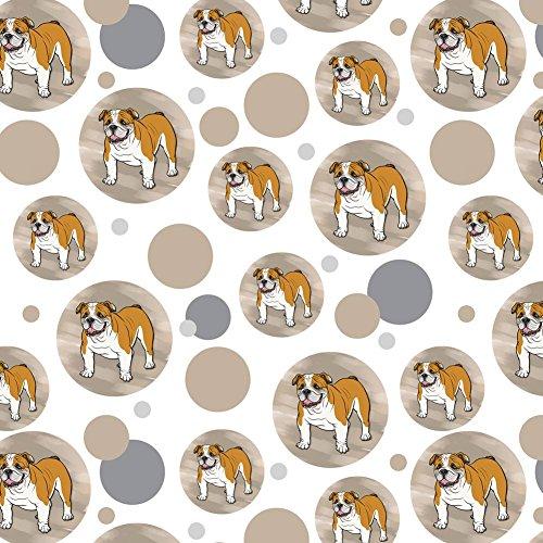 Premium Gift Wrap Wrapping Paper Roll Pattern - Dog Puppy - English Bulldog