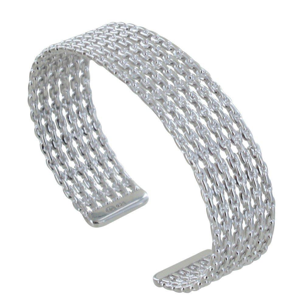 Les Poulettes Jewels - Silver Rhodium Bracelet Half Circlet Chains