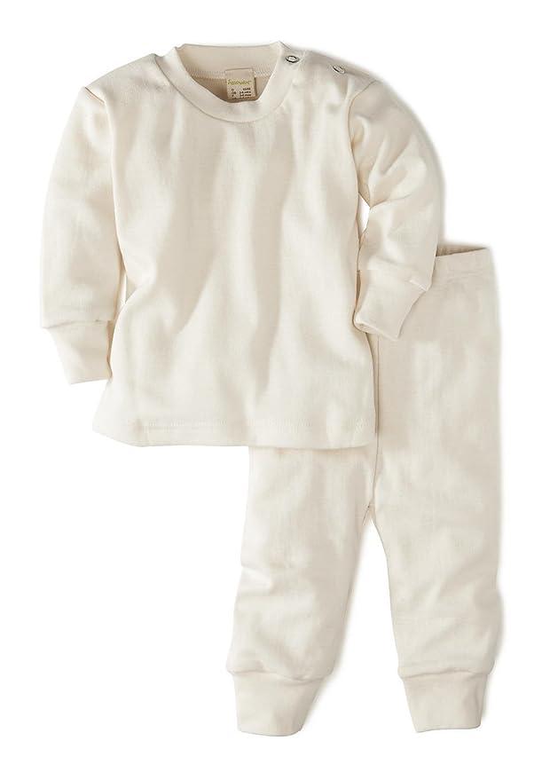 hessnatur Baby Mädchen und Jungen Unisex Schlafanzug aus Reiner Bio-Baumwolle