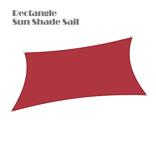 Alion Home Waterproof Woven Sun Shade Sail – Burgundy Red 8 x 12