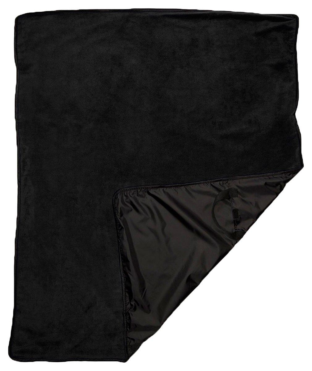 ウルトラクラブ撥水持ち運び簡単フルサイズピクニックブランケット B00V2NRFQQ ブラック One Size One Size|ブラック