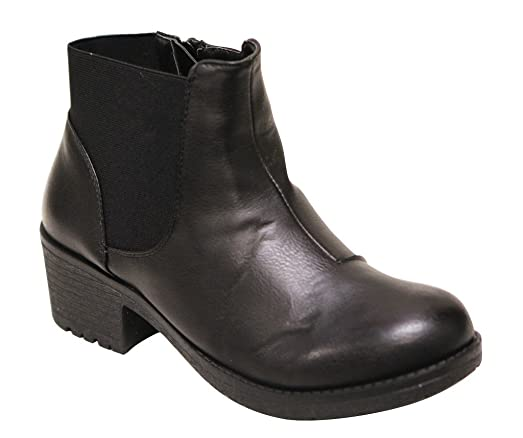 Ryder-17 Women's round toe elasticized zip opening ankle booties