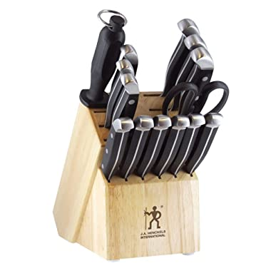 J.A. Henckels International 13550-005 Statement Knife Block Set 15-pc, Light Brown