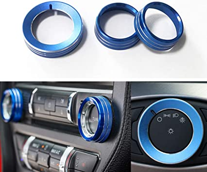 FIT For Ford Mustang 2015-2018 Aluminium Steering Wheel Shift Dial Accessories