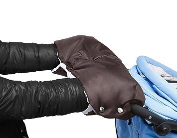 Mture Guantes de Silla de Paseo, Manoplas guantes de Forro polar impermeable, Invierno Protege Manos Guantes Caliente para cochecito carrito silla de ...