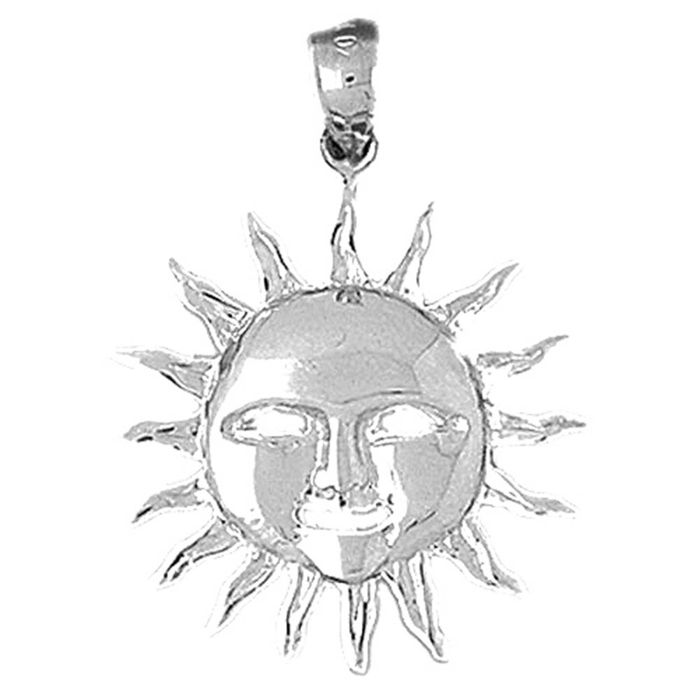 Sterling Silver 925 Sun Pendant Jewels Obsession Sun Pendant 31 mm