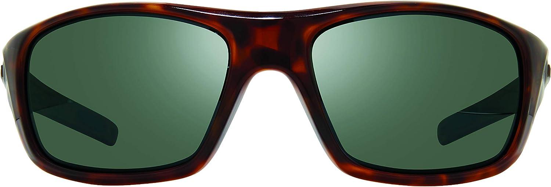 SG50 Tortoise Frame Revo Polarized Sunglasses Jasper Wraparound Frame 61mm