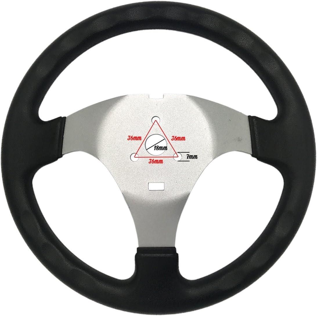 JA-ALL 300mm Steering Wheel for 150cc 250cc Go Kart Buggy Quad Hammerhead Kandi JCL