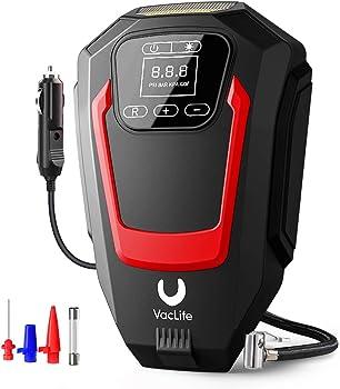 VacLife VL721 Portable Air Compressor Tire Inflator (Red)