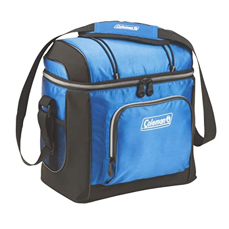 Amazoncom Coleman 16 Can Soft Cooler With Removable Liner Blue