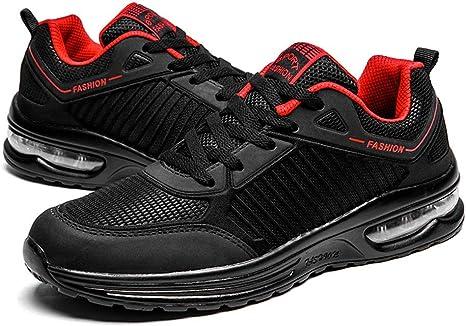 Zapatillas de Running Hombre-cojín de Aire Hombres Tenis Zapatos de Moda Ligero Caminar Zapatos Transpirable Deportes Entrenamiento Deportes,A,US10=EU44: Amazon.es: Deportes y aire libre