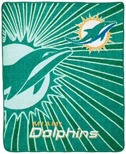 (The Northwest Company Officially Licensed NFL Miami Dolphins Strobe Sherpa on Sherpa Throw Blanket, 50