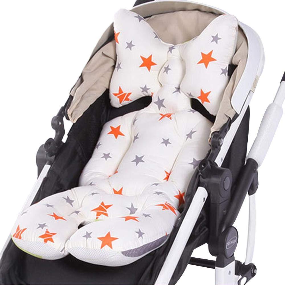 Baby Baumwolle Sitzkissen Universal Kinderwagen Sitzkissen atmungsaktiv bequem waschbar Sitzkissen f/ür Kinderwagen und Autositz
