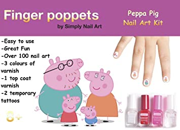 Nail Art Kits For Kids Includes Over 100 Nail Art Stickers Temporary Tattoos Coloured Nail Varnishes Top Coat And A Nail File