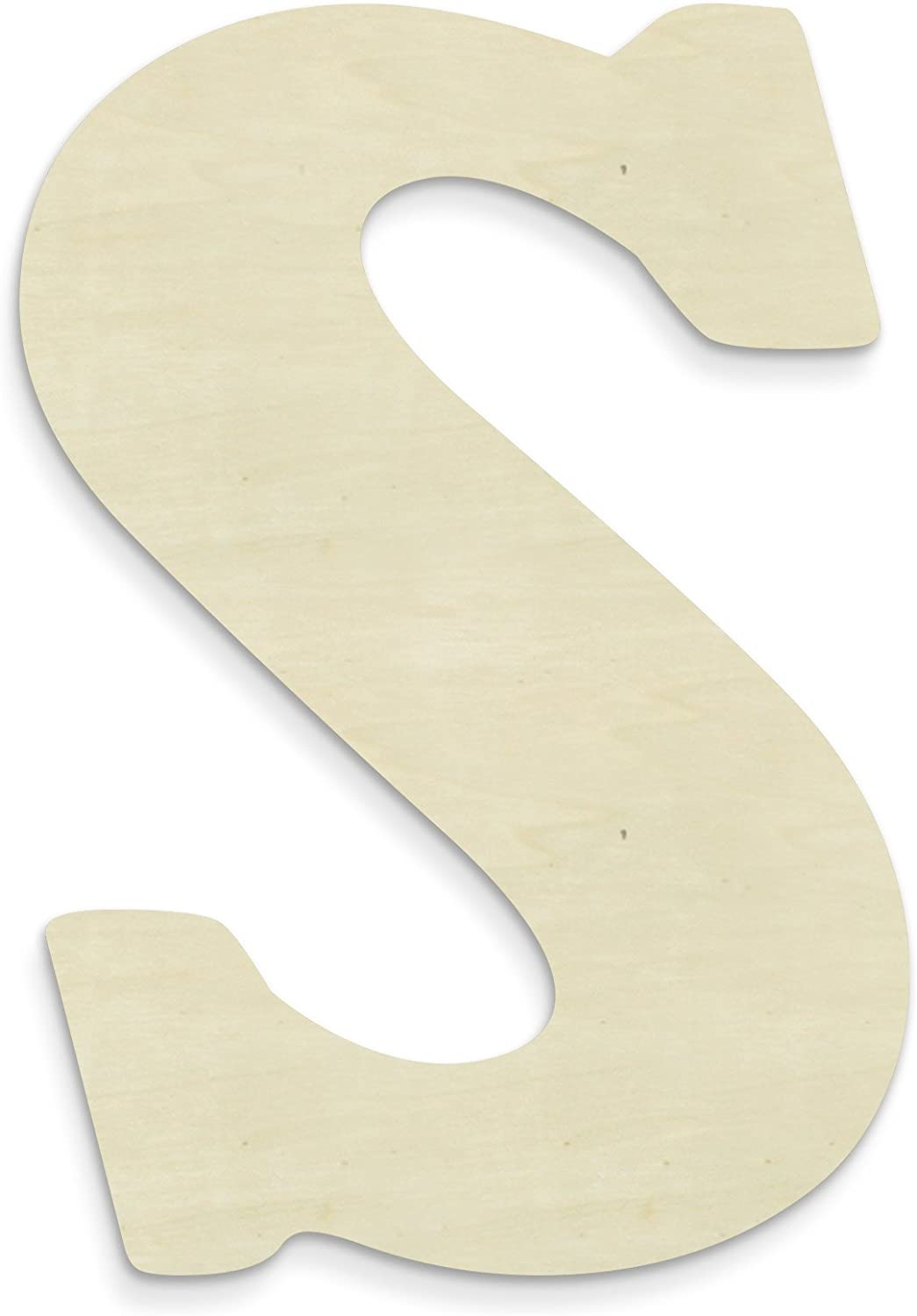 UNFINISHEDWOODCO Unfinished Wood Letter, 15-Inch, Monogrammed S, Large