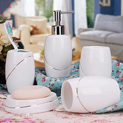Amazon Haosensix 40Pc Bath Accessory Sets Decorative Lotion Simple Decorative Bathroom Accessories Sets